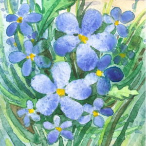 Forget me nots Bookmark